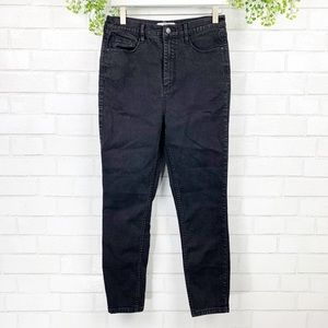 Free People High Rise Black Skinny Ankle Jeans 30